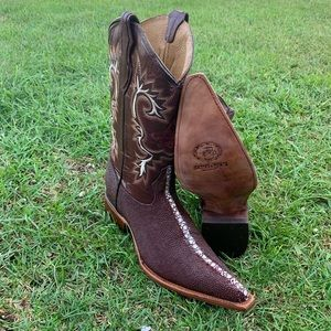 Men's Stingray western Boots Print Leather Wine